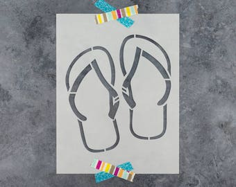 Flip Flop Stencil - Reusable DIY Craft Stencils of Flip Flop Sandals