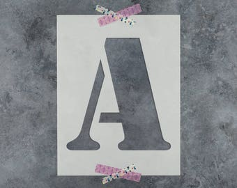 Single Letter Stencils in Army Font - Reusable Stencil Letters in Army Font - Get Individual Stencil Lettering!