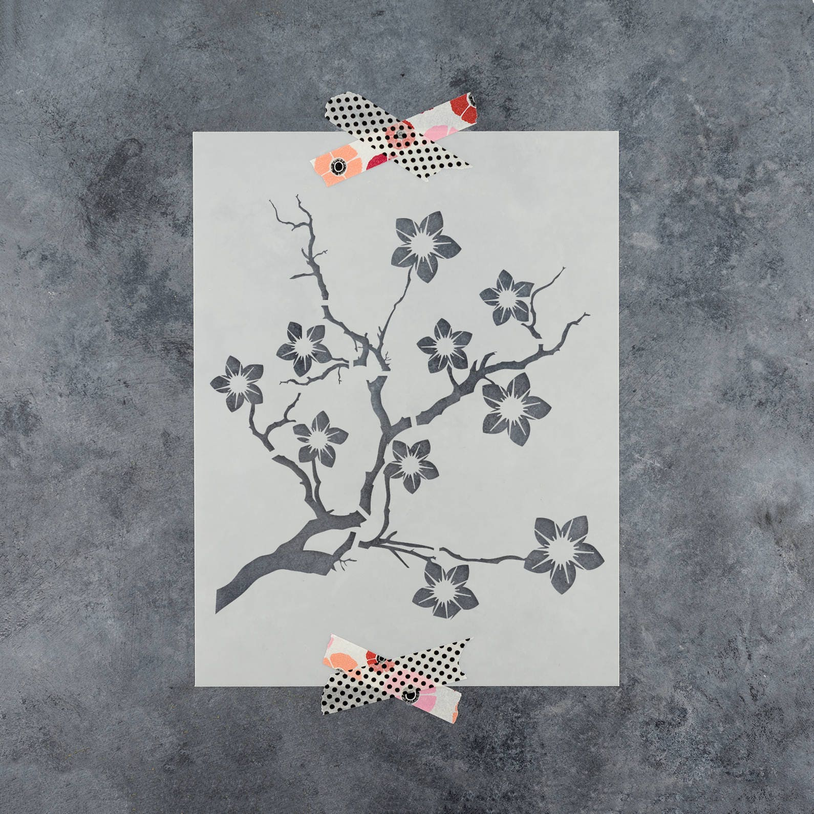 Cherry Blossom Stencil - Reusable DIY Craft Stencils of a ...