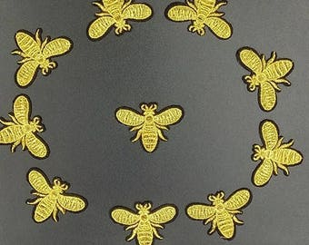 10PCS/LOT mini Bee patch Embroidery sew on iron on patch Decoration Accessories Embroidered patch  no.136