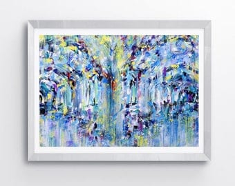 Abstract painting, abstract art, archways, original painting, wall art, contemporary art, art prints, abstract art prints, modern art