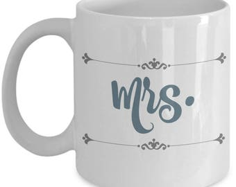 Mr and Mrs Mugs | Farmhouse Decor Mug | Farmhouse Style Coffee Mugs | Engaged | Wedding Gifts for Bride To Be | 11oz Tea Cup | Engagement