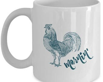 Rooster Mug | Rooster Decor | Rooster Coffee Cups | Farmhouse Mugs | Farmhouse Decor | Farmhouse Kitchen | Farmhouse Style 11 oz Coffee Cup