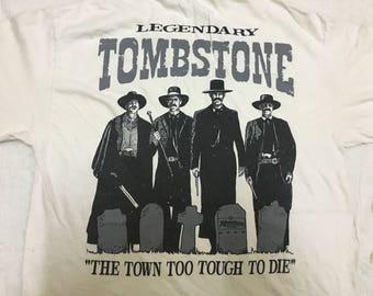 Vintage 90s TomBstone Legendary Usa Movie Big Logo