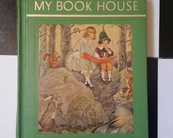 """Lovely vintage children's book - """"My Book House - Story Time vol 2""""  1965 printing (1st ed. 1920) hardback, 224 pg. of classic stories/poems"""