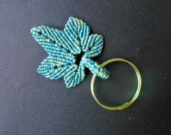 "Key ring or pendant ""Ganja leaf"""