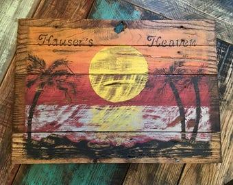 Tropical Rustic Sign