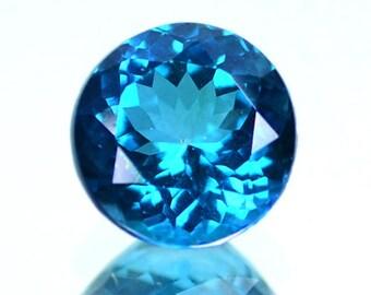 3.84 Ctw Breathtaking Blue Round  Natural Clean London Blue Topaz