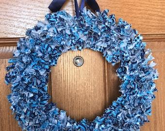 Navy Blue Wreath Etsy