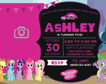 My Little Pony Invitation / My Little Pony / My Little Pony Birthday Invitation / My Little Pony Party / My Little Pony Invite / Little Pony