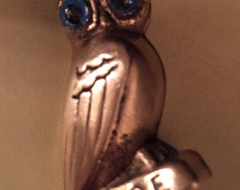 Solid Brass Owl of Athena ( Greece) Figurine Paperweight ΑΘΕ #3