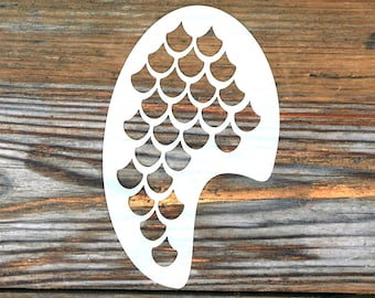 Mermaid Scales Face Painting Stencil approx 12cm x 8cm Washable and Reusable