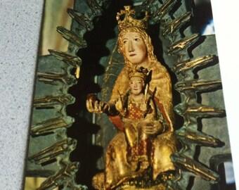 Vintage Religion Church Gnadenbild Postcard Maria Photo
