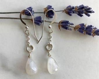 Aura Quartz Earrings // Italian Sterling Silver