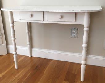 Shabby Chic Desk, White, Lightly Distessed