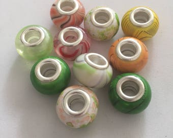 Cool color beads for charm bracelets