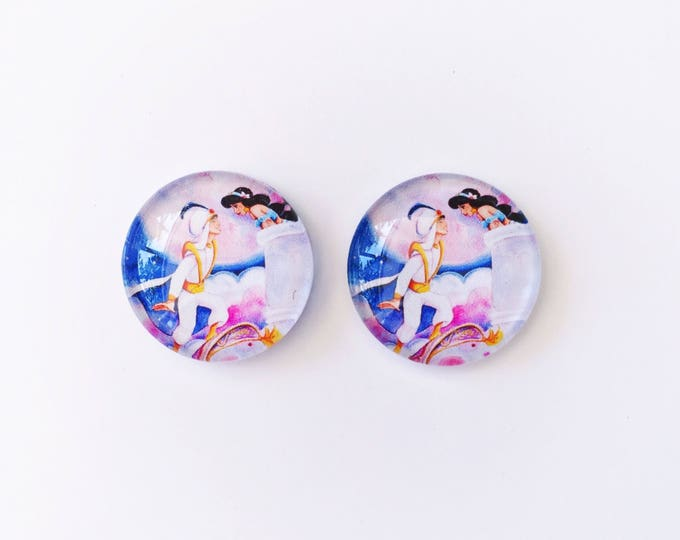 The 'Aladdin' Glass Earring Studs