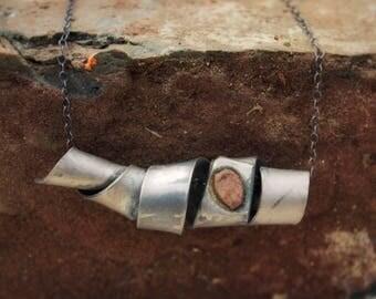titanium spiral necklace