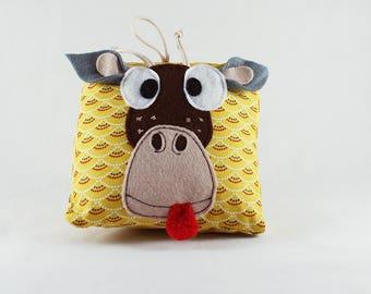 Plush giraffe decoration - handmade