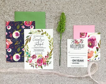 The Carolyn Collection—Eight-Piece Wedding Invitation Suite (Pack of 10)