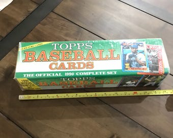 SEALED Topps Baseball Cards 1990 Official  Complete Set