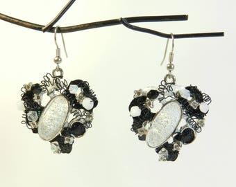 """Earrings """"Basma"""" mount hook 925 Silver, hand made"""