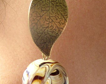 African earrings.