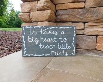 Wooden Sign - Teacher Appreciation - Teacher Quote - Teacher Gift