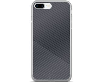Dark Grey Skinny Stripes iPhone Case iphone 6 case, iphone 7 case, iPhone 8 case, iphone 7 plus case, iPhone X case, iphone 8 plus