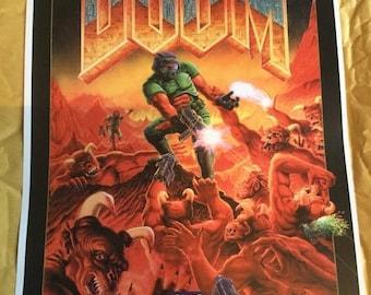 Black border Retro Doom game Poster Print In A3 #retrogaming please read description