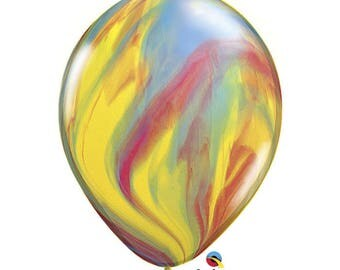 """Marble Balloons 11"""", Super Agate Balloons 11"""", Multicolor Balloon 11"""", Rainbow Balloon 11"""""""