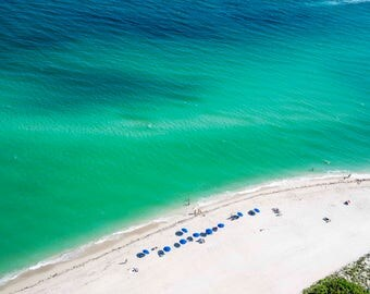 South Beach: 'Sand Castles' // Aerial beach Photography // Limited Edition // 3 sizes