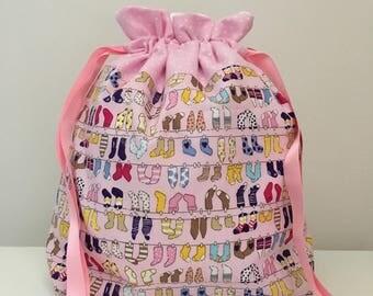 Knitting bag / knitting bags / crochet bag / project bag - sock knitting bag
