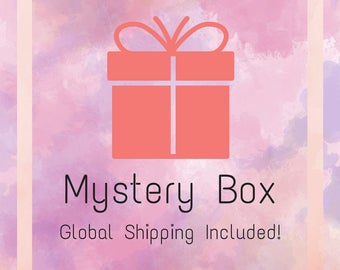 Mystery Box - Worldwide Shipping Included | Cheap Mystery Box | Nerdy Gift | Enamel Pin | Gift Box | Box of Mysteries | Cute | Geek |