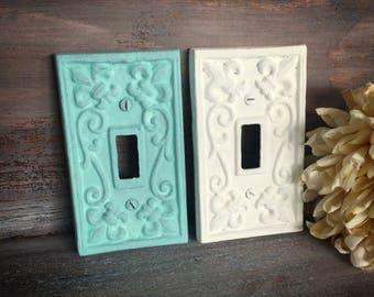 Custom Fleur de Lis Single Light Switch Plate / Ornate Plate / Switch Plate Cover