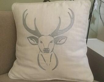 2 cushion head Christmas serf, embroidery