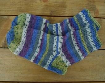 Wool Socks, Women's Socks, Knit, Hand-made, Size 37-38, Cosy Winter Socks, Christmas Gift