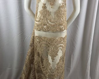 Lace Fabric Beaded Trim Sewing Skin Trimming Edge Embroidered Wedding Craft Bridal Veil By The Yard