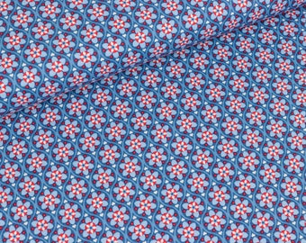 Cotton woven Julia Herzen blue (11,50 EUR / meter)