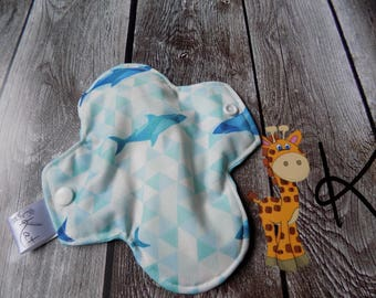 Pantyliner,Period Pads, Incontinence Cloth, Eco-friendly, Woman  hygiene, Zero-waste,Reusable, Sharks