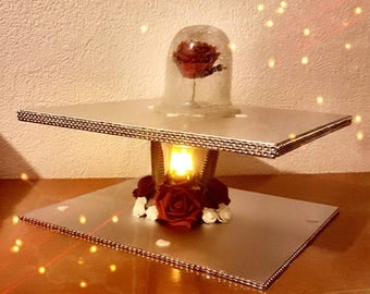 Square Cake Stand Etsy