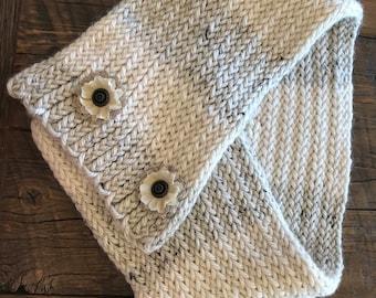 Chunky crochet neck cowl
