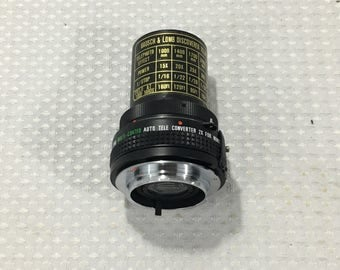 Bausch & Lomb Telephoto Adapter and PRO Multi-Coated Auto Tele Converter 2X for Minolta-MD