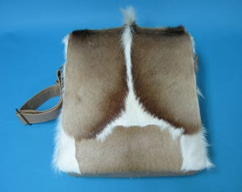 Springbok Fur and Leather Bag (1112-SCB-MD-G01)
