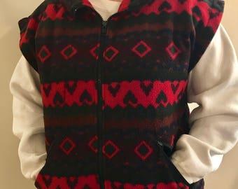 Aztec Vest zip Up M