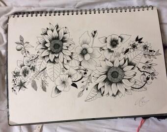 A3 flower design