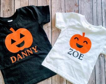Personalized Pumpkin Shirts/Kids pumpkin shirts/Toddler and Kids shirts/Halloween Shirts/Personalized Halloween Shirts/Pumpkin Name shirts