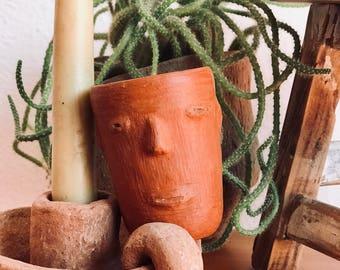 Mexican ceramics. Mezcalero. Tequilero. Terrocotta art. Oaxacan folk art.