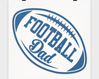 """16"""" x 16"""" Poster Football Dad Cool Sports Lover Poster Gift for Football Lover Sports Fanatic Dad Father of Player Wall Art Bedroom Poster"""