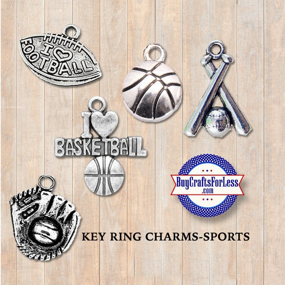 SPORTS CHARMS for Key Rings - GiFTS for him, Gifts for DAD +Discounts & Free Shipping*